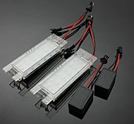 abordables -otolampara 2 x 18 leds feux de plaque d'immatriculation lampe blanche pour opel vauxhall corsa d zafira 2006-2011