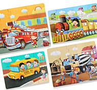 abordables -1 pcs Véhicule de Construction Puzzle Jouet Educatif simple Cadeau Adorable Interaction parent-enfant Papier carton Enfant Jouet Cadeau