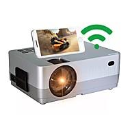 """abordables -projecteur wifi hq3 le plus récent projecteur portable de mise en miroir sans fil écran 200 """"et 70000 heures de vie de la lampe projecteur vidéo led, mini projecteur pour clé tv, hdmi, vga, usb, ps4,"""