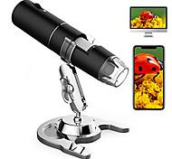 economico -microscopio digitale wireless, ingrandimento da 50x a 1000x lente d'ingrandimento per endoscopio elettronico usb portatile con 8 luci a led regolabili 1080p fhd fotocamera zoom tascabile con android,