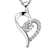 economico -sei l'unico nel mio cuore collana con ciondolo in argento sterling