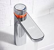abordables -robinet de lavabo de salle de bains numérique à LED avec affichage de la température robinet de lavabo en chrome / laiton