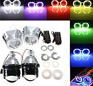 abordables -otolampara 2 x 2,5 pouces h1 / h4 / h7 bi-xénon caché kit de conversion de phares de projecteur avec objectif ccfl angel eyes halo anneau lumières carénage gauche # 1 / droite # 2 en option