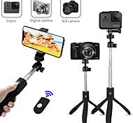 abordables -k05 trépied de bâton selfie bluetooth extensible pour iphone télécommande sans fil samsung longueur max extensible bluetooth jusqu'à 74 cm bâton selfie pour appareils intelligents Android smartphones