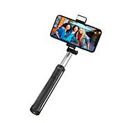 economico -bluetooth selfie stick youtube supporto del telefono tiktok telecomando bluetooth lunghezza massima 110cm selfie stick supporto estensibile per iphone 12 11 samsung s21 a12 mobile universal android