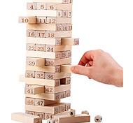 abordables -jeux de société empilables en bois tour de bois classique meilleurs jeux éducatifs amusants en famille pour les enfants - idées de cadeaux match de nombre (54 pièces)