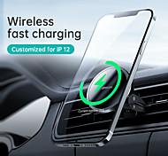 abordables -Joyroom jr-zs240 support de voiture de charge sans fil magnétique support de téléphone portable dans la voiture support de sortie d'air support de support de téléphone