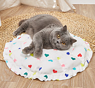 abordables -Chien Chat Petits Animaux à Fourrure Lits de chat Tapis de lit pour chien Nid de couchage pour animaux Cœur En forme de citrouille Portable Pliable Lavable Tapis à double usage Nylon pour grands