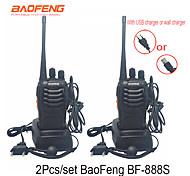 abordables -2pcs talkie-walkie baofeng bf-888s 16ch uhf 400-470mhz baofeng 888s radio hf émetteur-récepteur amador interphones portables super qualité sonore