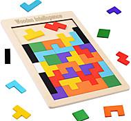 abordables -Outil pédagogique Montessori Tetris Blocs de Construction Puzzles en bois 1 pcs compatible Bois Legoing Nouveautés Éducation Garçon Fille Jouet Cadeau