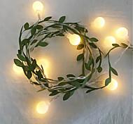 abordables -6m 3m minuscule feuille de lierre avec guirlande de billes guirlande lumineuse LED guirlande flexible lumières pour table de mariage décoration de fête à la maison de noël aa batterie puissance