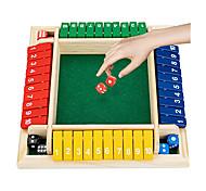 abordables -fermez la boîte jeu de dés jeu de famille planche de bois pub bar jeu de dés de plateau jeu de mathématiques pour enfants adultes comprend huit dés