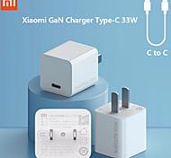economico -Xiaomi 33 W Potenza di uscita USB C Caricatore PD Adattatore Caricatore del telefono Caricabatterie portatile Caricabatteria di Muro Normale Per Macbook iPad Samsung Xiaomi Cellulare