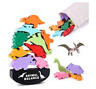 economico -giocattoli per bambine di 4 5 6 7 anni, impilabili giocattoli di dinosauri per bambini, blocchi di equilibrio in legno per bambini in età prescolare che imparano le abilità motorie fini, i migliori