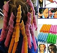 abordables -20 pcs / pack bigoudis magiques sans chaleur rouleau à cheveux tiges de curling ensemble boucles en spirale kit de coiffage crochets de coiffage bricolage rouleau de coiffure outil de permanente pour