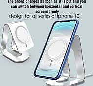 abordables -Accroche Support Téléphone Bureau Téléphone Portable Support avec Adaptateur Type de gravité Silicone Alliage d'aluminium Accessoire de Téléphone