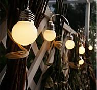 economico -led retro globe festoon bulb 1.5m 3m ball string light outdoor led outdoor lights for wedding garden decor holiday garland string light aa battery power