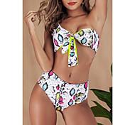 abordables -Femme Bikinis 2 pièces Maillot de bain Dos ouvert Léopard Vert Arc-en-ciel Maillots de Bain Bandeau Sans Bretelles Maillots de bain nouveau Mode Sexy