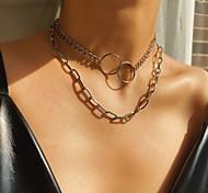 abordables -Collier Chaîne Collier Femme Mode Dorée Argent 20-40 cm Colliers Tendance Bijoux 1 pc pour Soirée Plein Air
