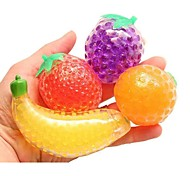 economico -Giocattolo di decompressione con palline antistress alla frutta, pallina antistress alla frutta, riempita con perline d'acqua gel colorate e comprimibili - favorisce il sollievo dallo stress, la