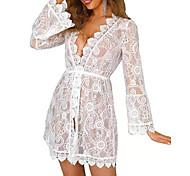 abordables -Femme Robe de plage Maillot de bain Broderie Couleur unie Blanche Maillots de Bain Maillots de bain Sexy