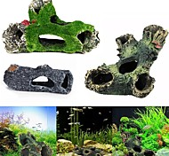 abordables -Simulation résine artificielle bois mort trou cachant la grotte habitat aquarium réservoir de poissons ornement bricolage décor à la maison maison pour animaux de compagnie