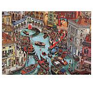 abordables -puzzles 1000 pièces pour adultes canaux bondés à Venise jeu amusant éducatif décompression intellectuelle puzzle intéressant