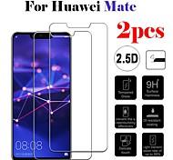 abordables -Protection Ecran Huawei Verre Trempé Huawei Mate 20 lite Huawei Mate 20 pro Huawei Mate 20 2 pcs Haute Définition (HD) Dureté 9H Antidéflagrant Ecran de Protection Avant Film Vitre Protection