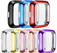 abordables -Pack de 2 protections d'écran compatibles avec Fitbit Versa 2 Housse de protection complète en TPU Housse anti-rayures plaquée pour Versa 2 Smartwatch