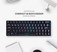abordables -ifeiyo 64 sans fil bluetooth type c clavier mécanique filaire double mode clavier de jeu commutateurs outemu mini taille rechargeable programmable rgb rétroéclairé 64 touches pcs