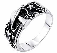 economico -alicejewelry anello da motociclista stella pentagramma fiore in acciaio inossidabile da uomo vintage, misura 10
