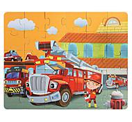 abordables -30 pcs Camions Incendie Puzzle Jouet Educatif Cadeau Adorable Interaction parent-enfant Papier carton Enfant Jouet Cadeau