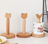 abordables -bois massif petite tête d'animal dessin animé rouleau porte-papier support de papier toilette de bureau porte-serviette bas