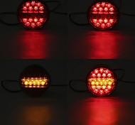 economico -otolampara 20w dc 12v / 24v bianco giallo led doppi colori hamburger coda posteriore stop indicatori luci tondo per camion rimorchio caravan van atv bus 1 pz