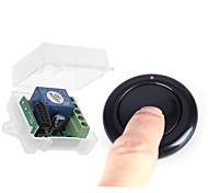economico -dc 12v tutto il senso interruttore di telecomando senza fili / ricevitore wireless codice di apprendimento rf / pannello di controllo jog controllo accessi