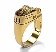 economico -anello accendino creativo in oro 14k placcato punk stile punk europeo e americano (oro, 9)