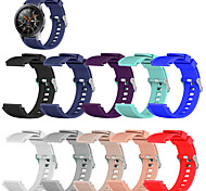 abordables -1 pièces Bracelet de Montre  pour Samsung Galaxy Bande de sport Silikon Sangle de Poignet pour Gear S3 Frontier Gear S3 Classique Engrenage 2 R380 Gear 2 Neo R381 Équipement en direct