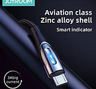 economico -Joyroom Micro USB USB C Cavi Carica rapida Trasmissione dati Caricatore del telefono 3 A 1,2 m (4 piedi) Lega di zinco Per Samsung Xiaomi Huawei Appendini per cellulare