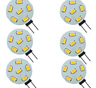 economico -6 pz 2 W Luci LED Bi-pin 200 lm G4 6 Perline LED SMD 5730 Bianco caldo Bianco 9-30 V