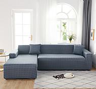 abordables -Crazing solide anti-poussière tout-puissant housses extensibles en forme de L housse de canapé housse de canapé en tissu super doux avec une taie d'oreiller gratuite