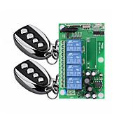 economico -interruttore di comando a distanza senza fili a quattro vie ac 220v / ampio voltaggio 85v-250v / scheda di controllo dell'alimentazione elettrica di illuminazione / codice di apprendimento 10a relè /
