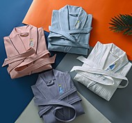 abordables -Qualité supérieure Peignoir, Couleur Pleine / Mode Pur coton Chambre à coucher / Salle de  Bain 1 pcs