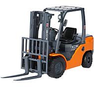 abordables -KDW 1:20 Alliage de métal Chariot Elévateur Véhicule de construction de camion jouet Petites Voiture Rétractable Simulation Machine Camion Garçon Enfant Adultes Jouets de voiture