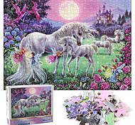 abordables -1000 pcs Licorne Puzzle Jouet Educatif Cadeau Adorable Jouets de décompression Interaction parent-enfant Papier carton Adolescent Adulte Jouet Cadeau