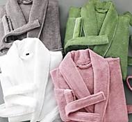 abordables -peignoir en tissu éponge peignoir de qualité supérieure, pur coton de couleur unie coton égyptien blanc gris rose - luxueux, doux, peluche durable