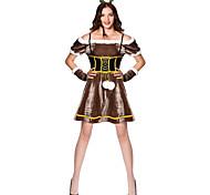 abordables -Costumes de Danse Robe Couleur Unie Femme Soirée Utilisation Manches Courtes Velours Polyester