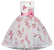 abordables -robes pour filles pour filles, sans manches, robes pour occasions spéciales blanc 5-6 ans