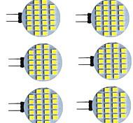 economico -6 pz 2 W Luci LED Bi-pin 280 lm G4 24 Perline LED SMD 2835 Bianco caldo Bianco 9-30 V