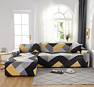 abordables -Housse de canapé extensible en forme de L, housse de canapé en tissu super doux avec une taie d'oreiller gratuite