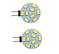 economico -2 pezzi 2 W Luci LED Bi-pin 260 lm G4 9 Perline LED SMD 5730 Bianco caldo Bianco 9-30 V